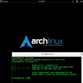 Arch Linux mit GNOME, Wikipedia